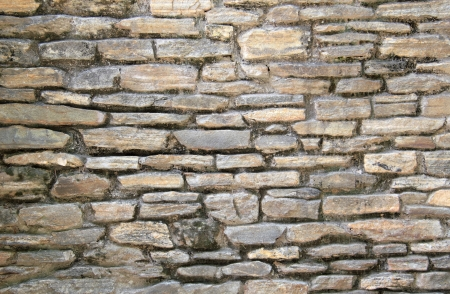 Flat stones stacked in a wall  Stok Fotoğraf