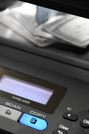 Personal identification and credit cards on a photo copier.