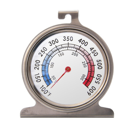 Isolated front picture of an oven thermometer. 版權商用圖片