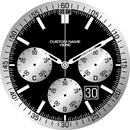 Vector template for a customisable smart watch face. Stok Fotoğraf - 84616834