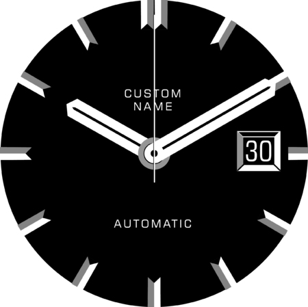 Vector template for a customisable smart watch face. Stok Fotoğraf - 84616835
