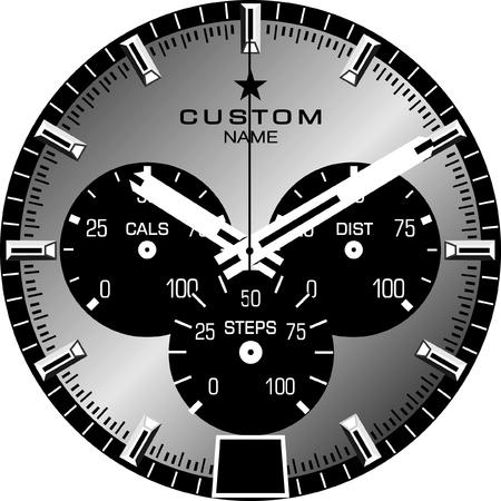 Vector template for a customisable smart watch face. Stok Fotoğraf - 84616905