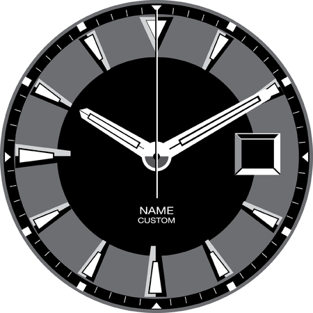 Vector template for a customisable smart watch face. Stok Fotoğraf - 84649551