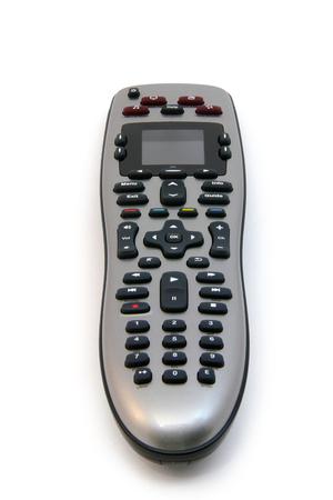 白い背景の上の普遍的なリモート コント ローラーの写真。 写真素材