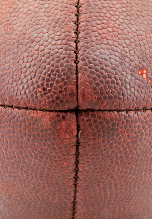 Closeup of the texture on a football. Stock Photo