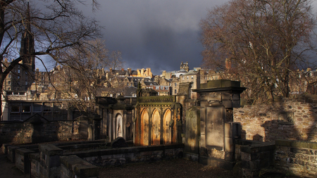 Historic cemetery in Edinburgh