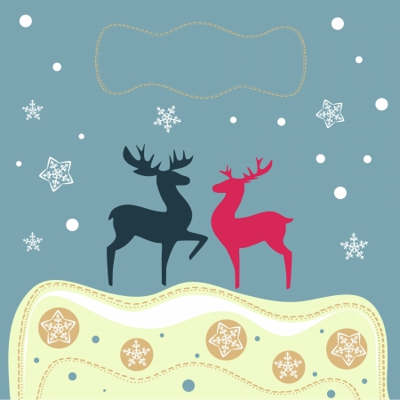 The vector illustration of reindeers  Vector