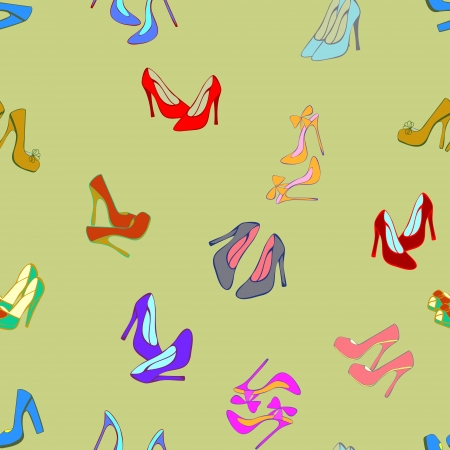 Vector seamless background with shoes  Vector