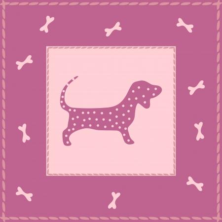 Pink puppy Vector
