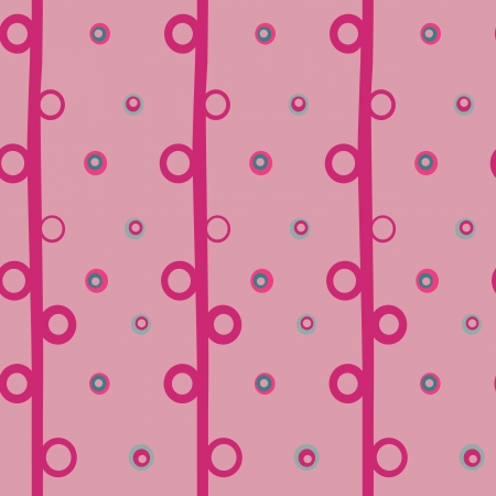 Vector seamless background with circles pink  Vector