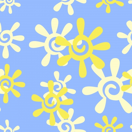 warmly: Vector seamless background with sun Illustration