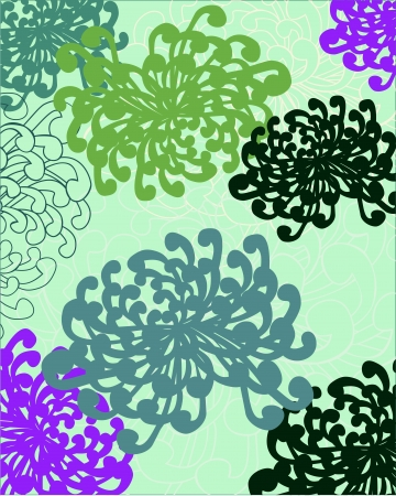 Vector illustration of a background in bright flowers  Stock Vector - 19417729