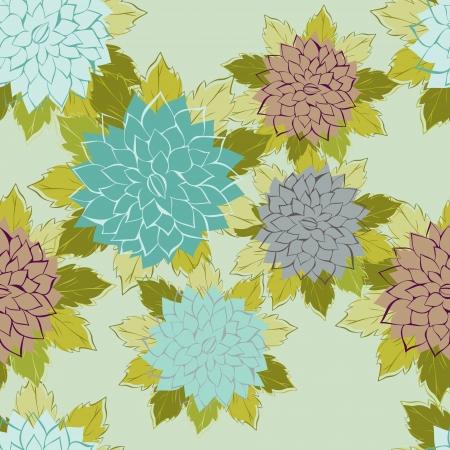 wallflower: Roses  Seamless pattern made of blue roses