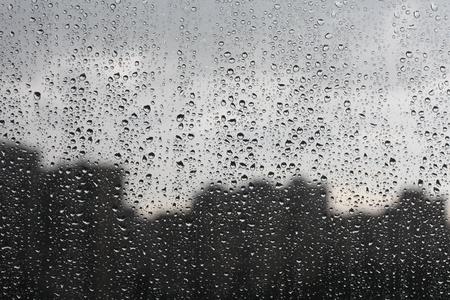 bad weather: rain on window Stock Photo