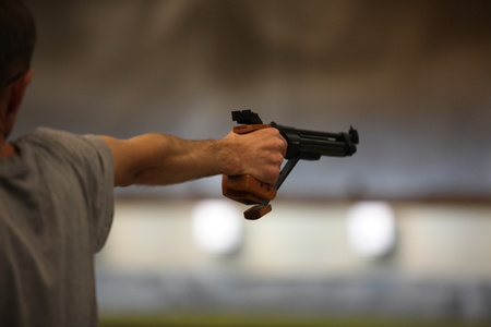 Man with a pistol   photo