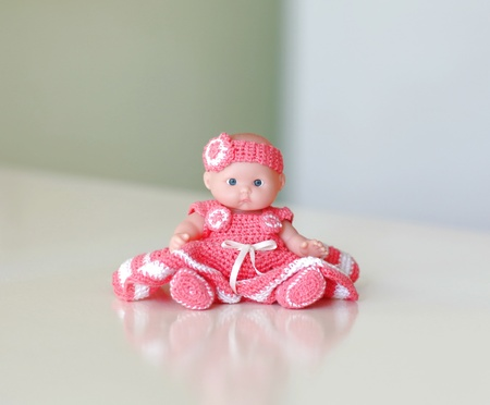 small doll on the table
