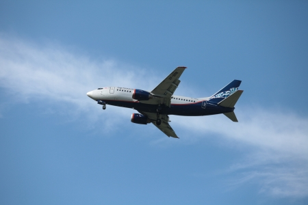 Boeing  passenger aircraft in the air company Aeroflot Stock Photo - 14148819
