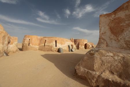 Stadt in der Wüste Sahara, Tunesien