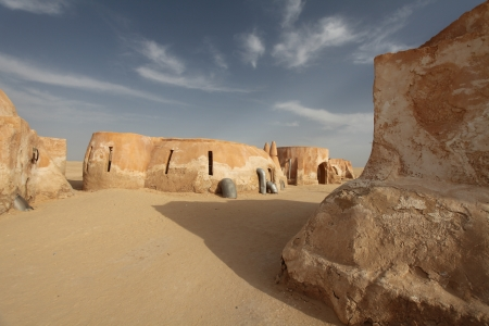 town in the Sahara Desert, Tunisia