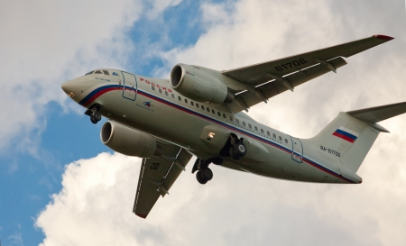 airplane An 148 airlines flying Russia Stock Photo - 14857622