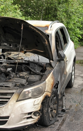 car set on fire