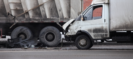 collision of the truck and car