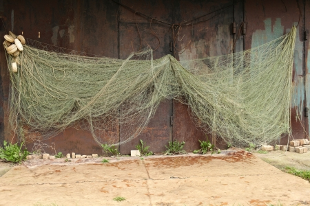 commercial fishing net: Fishing Industry Commercial Fishing Net Stock Photo