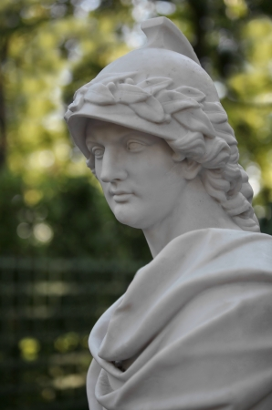 Antique Bust Alexander the Great. Situated in Summer Garden in St. Petersburg, Russia photo
