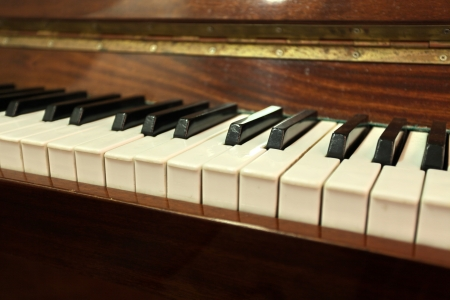 piano keys close to selected focus