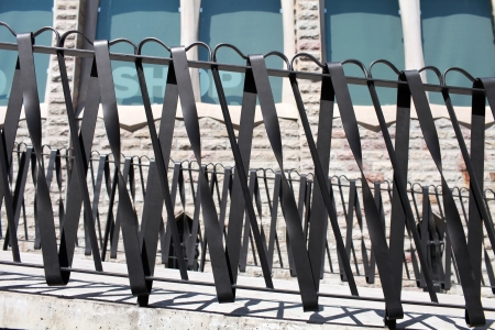 iron bars: Architectural Detail Stylish metal fence