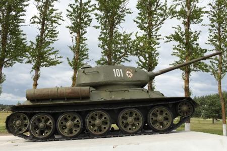 tanque de guerra: El tanque sovi�tico de la Segunda Guerra Mundial Tanque T34 Foto de archivo