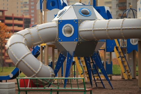 The gaming spaceship   in the playground