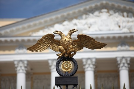 double headed eagle: Russian coat of arms  double headed eagle