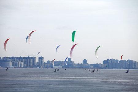 snowkiting: sailing in the winter  snowkiting