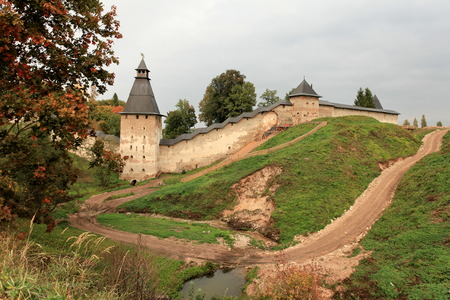 tortuous: View of the Pskov fortress autumn Russia Editorial