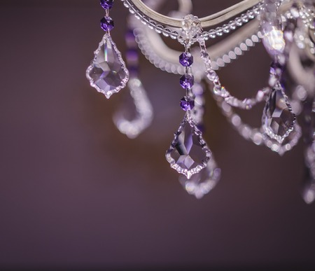 chandelier background: Chrystal chandelier detail Abstract background close-up Stock Photo