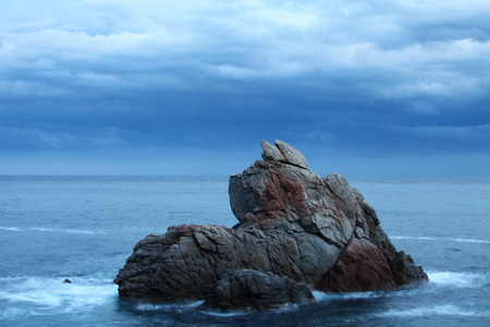 rock stone: Dramatic  seascape featuring scenic rock formations