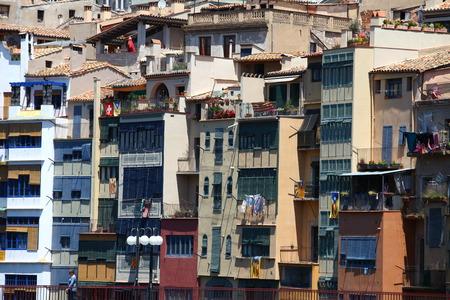 case colorate: case colorate a Girona Catalogna Spagna