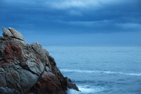 Scaur Dramatic seascape in the evening