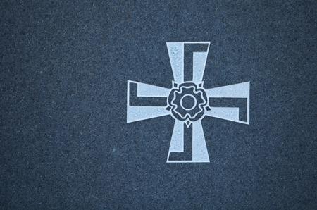 finnish: Finnish Military Cross on granite
