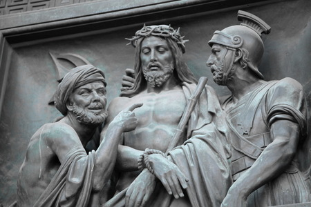 Judas Jésus gouverneur romain Ponce Pilate Banque d'images - 37207932