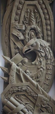 bas: predatory eagle bas Relief