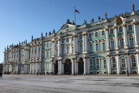 16 February 2015 St. Petersburg  Russia  majestic Winter Palace  Landmarks of St. Petersburg