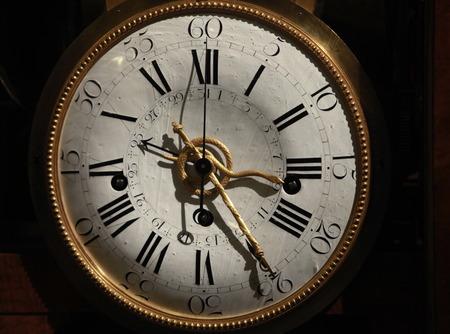 mantel: gold antique mantle clock Stock Photo