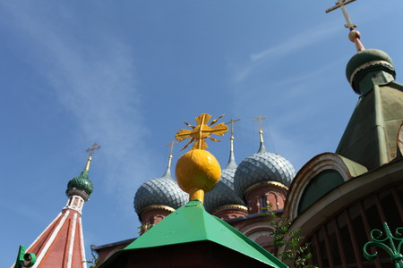domes: domes of Russian church abstract background