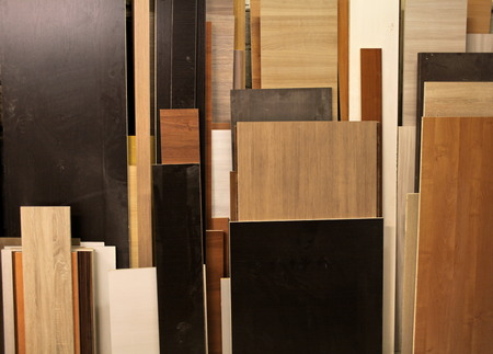 chipboard: Furniture Panels chipboard in the carpentry workshop