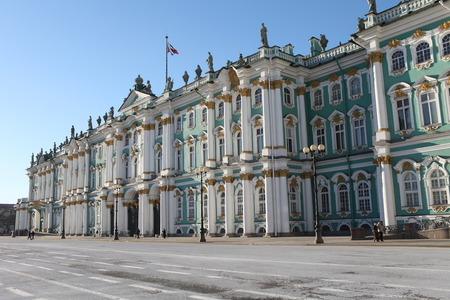 16 February 2015  St. Petersburg  Russia  majestic Winter Palace  of St. Petersburg