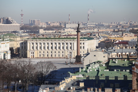 and st petersburg: Panorama of St. Petersburg airview Stock Photo