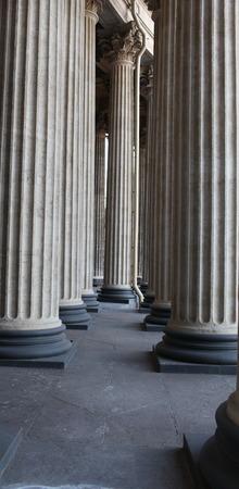 st  petersburg: Row of columns Kazansky Cathedral in St. Petersburg
