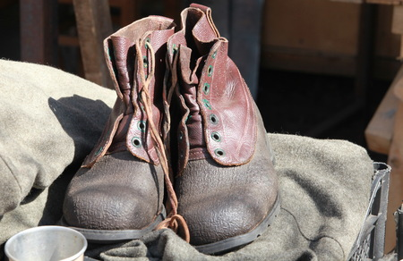 a pair of: pair of old-fashioned boots